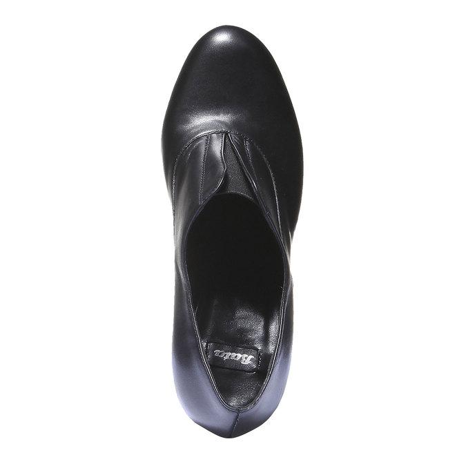 Kožené kozačky na vysokém podpatku bata, černá, 724-6601 - 19
