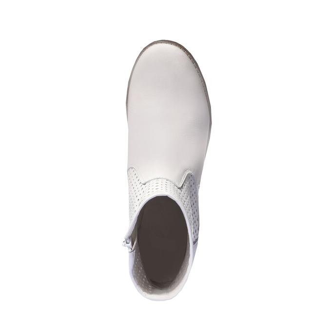 Jarní obuv s jemnou perforací bata, bílá, 694-1136 - 19