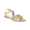 Dívčí sandály s kamínky mini-b, žlutá, 361-8175 - 13