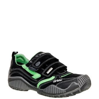 Dětské Kožené tenisky na suché zipy mini-b, černá, 413-6130 - 13