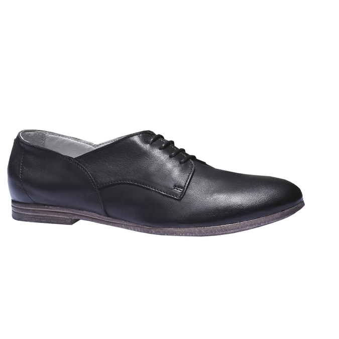 Kožené polobotky bata, černá, 524-6169 - 13
