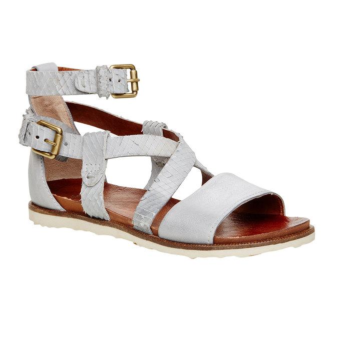 Dámské kožené sandály bata, 566-1103 - 13