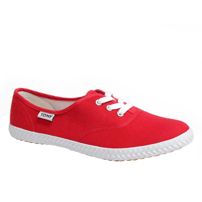 Plátěné tenisky tomy-takkies, červená, 519-5105 - 13