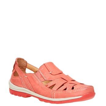 Neformální kožené polobotky bata, červená, 524-5116 - 13