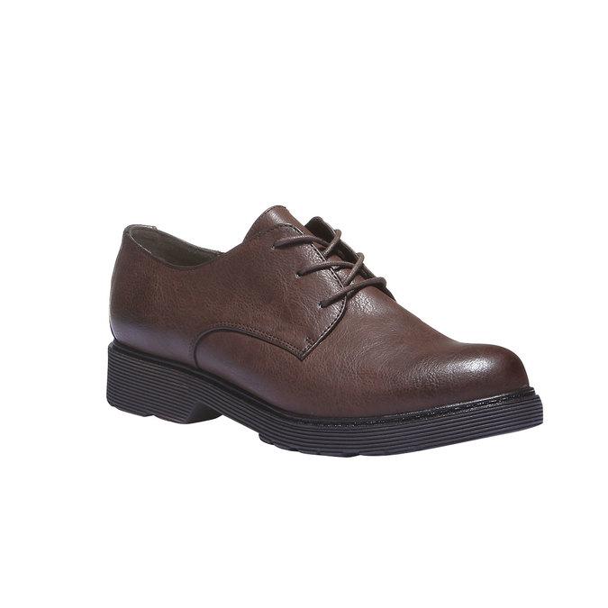 Dámské boty v derby stylu bata, hnědá, 521-4101 - 13