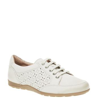 Ležérní kožené tenisky bata, bílá, 524-1511 - 13