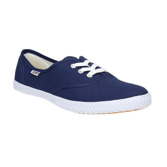 Modré textilní tenisky tomy-takkies, modrá, 519-9691 - 13