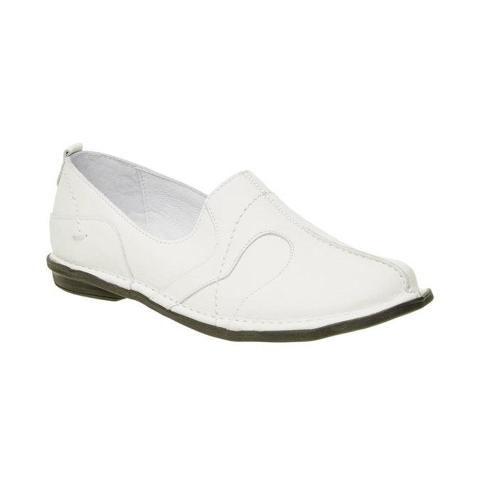 Dámská kožená obuv bata, bílá, 556-1100 - 13