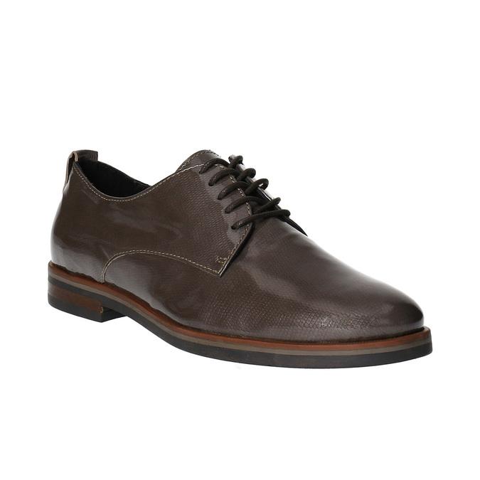 Dámské kožené polobotky bata, hnědá, 528-2600 - 13