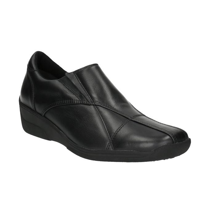 Dámská kožená obuv bata, černá, 556-6101 - 13