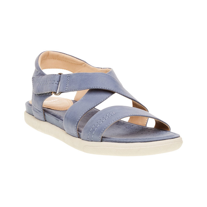 Dámské kožené sandály bata, modrá, 564-9351 - 13