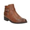 Kotníčková obuv hnědá bata, hnědá, 591-4602 - 13