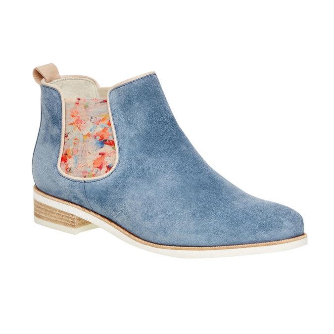 Kožené Chelsea boots gabor, modrá, 593-9012 - 13