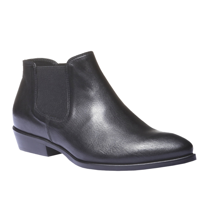 Kožené boty v Chelsea stylu bata, černá, 594-6106 - 13