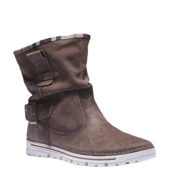 Kožená obuv s barevným lemem weinbrenner, hnědá, 596-4311 - 13