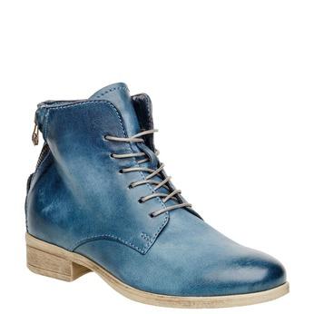 Kožené kotníčkové boty se zipem bata, modrá, 596-9103 - 13