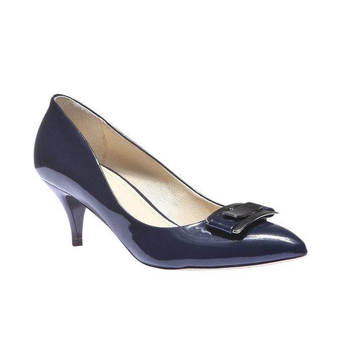 Lodičky s prodlouženou špičkou bata, modrá, 628-9100 - 13