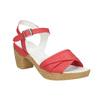 Kožené sandály na nízkém podpatku bata-touch-me, červená, 666-5203 - 13