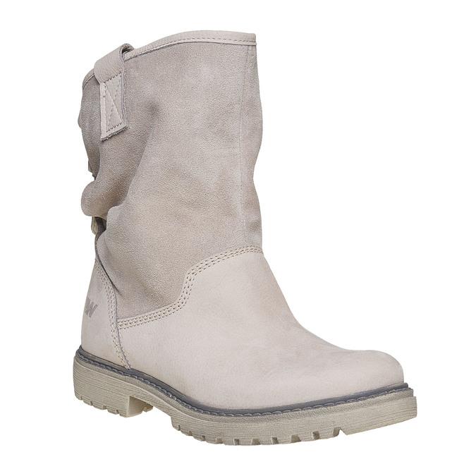 Kožená kotníčková obuv weinbrenner, béžová, 596-8405 - 13