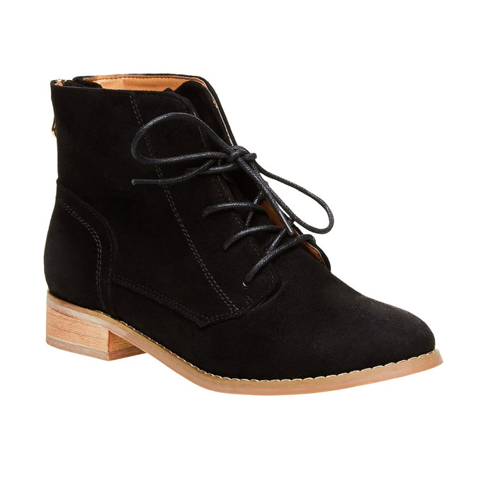 Kotníčkové boty se zipem bata, černá, 599-6493 - 13