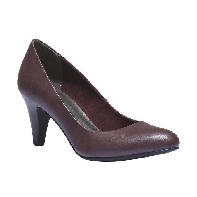 Lodičky na středně vysokém podpatku bata, fialová, 721-5222 - 13
