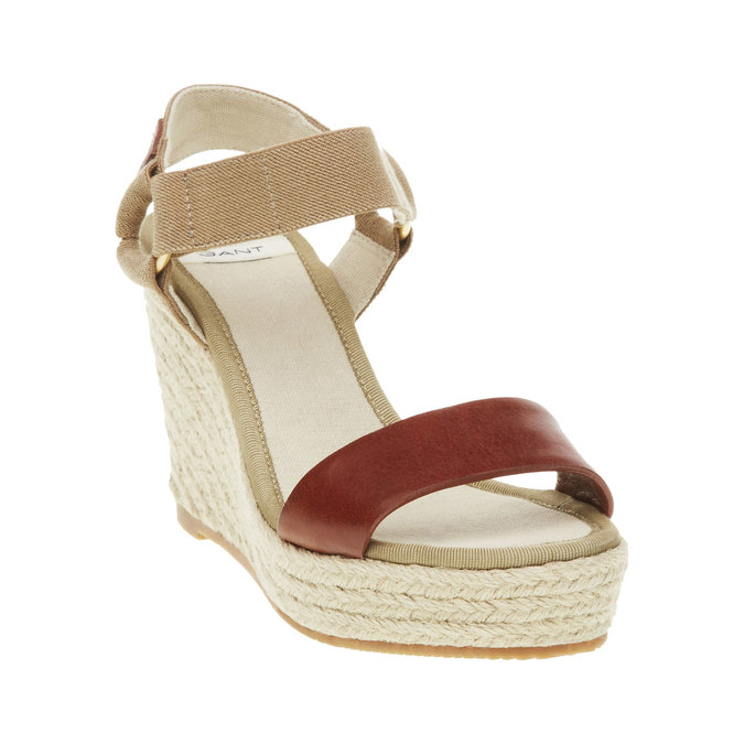 Dámské sandály na platformě gant, hnědá, 764-3014 - 13