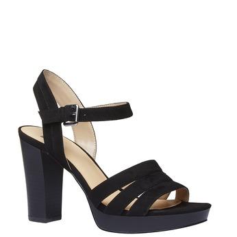 Dámské sandály na širokém podpatku bata, černá, 769-6484 - 13