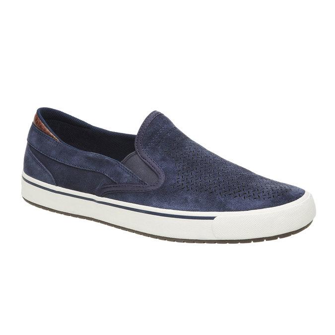Kožené Plim Soll boty rockport, modrá, 813-9103 - 13
