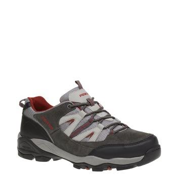 Kožená sportovní obuv power, šedá, 803-2284 - 13