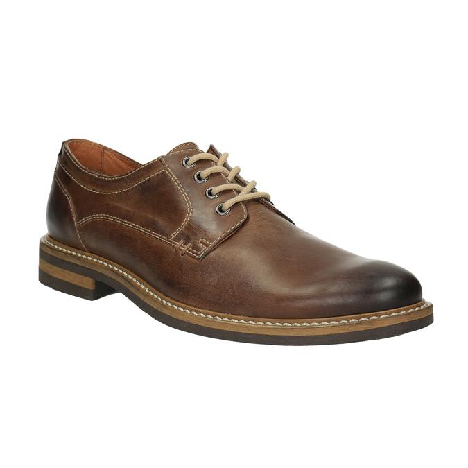 Neformální kožené polobotky bata, hnědá, 824-4654 - 13