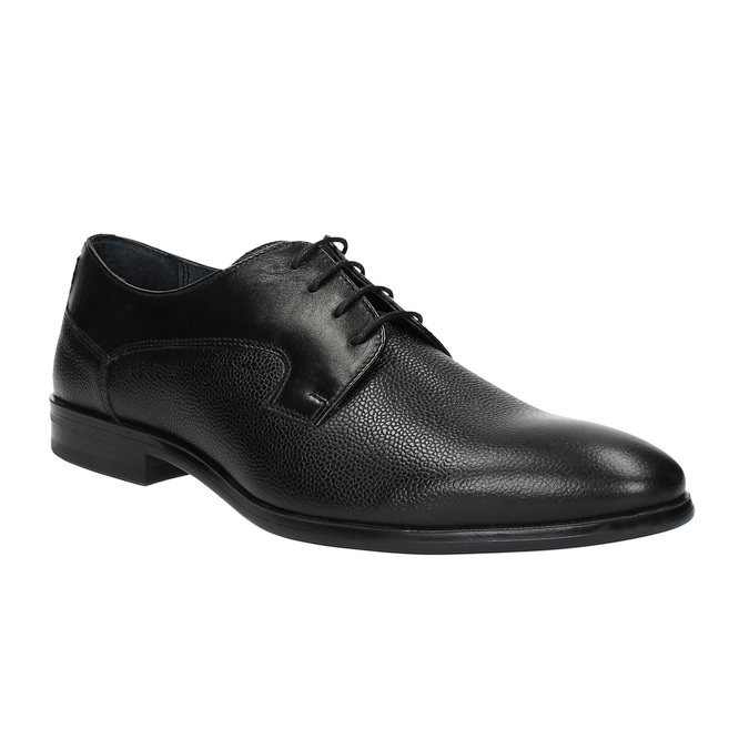Pánské kožené polobotky bata, černá, 824-6709 - 13