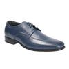 Pánské kožené polobotky bata, modrá, 824-9669 - 13