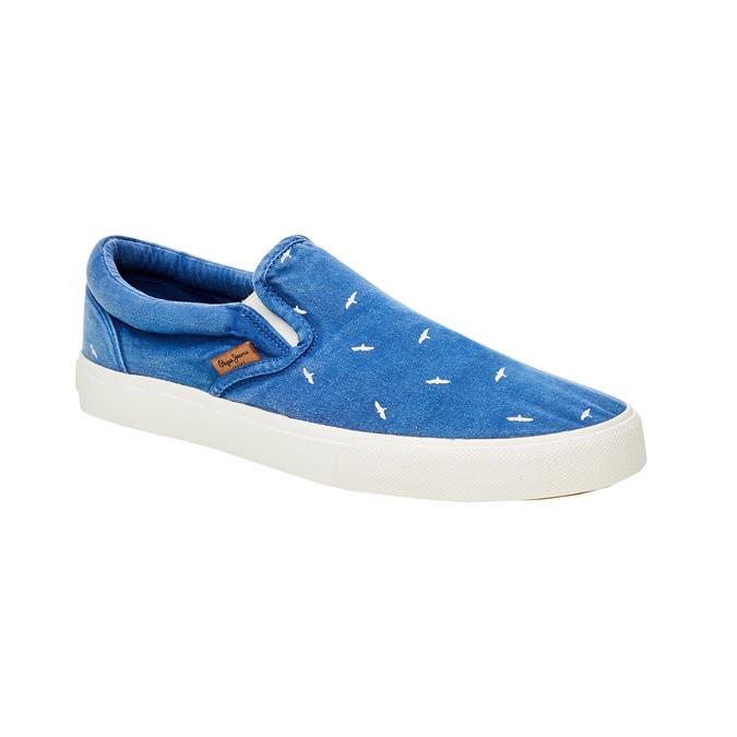 Pánské modré Slip On pepe-jeans, modrá, 839-9004 - 13