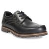 Kožené polobotky s prošitím na špici bata, černá, 826-6640 - 13