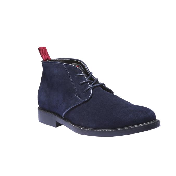 Kožené Chukka boty bata, modrá, 893-9245 - 13