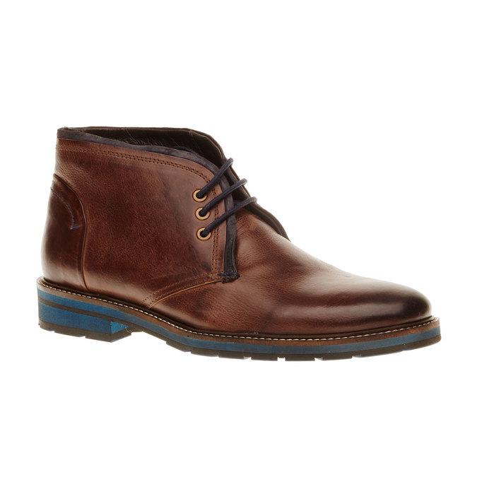 Kožená obuv v Chukka stylu bata, hnědá, 894-4126 - 13