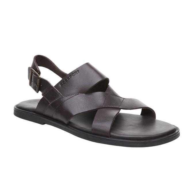 Pánské kožené sandály rockport, černá, 864-6106 - 13