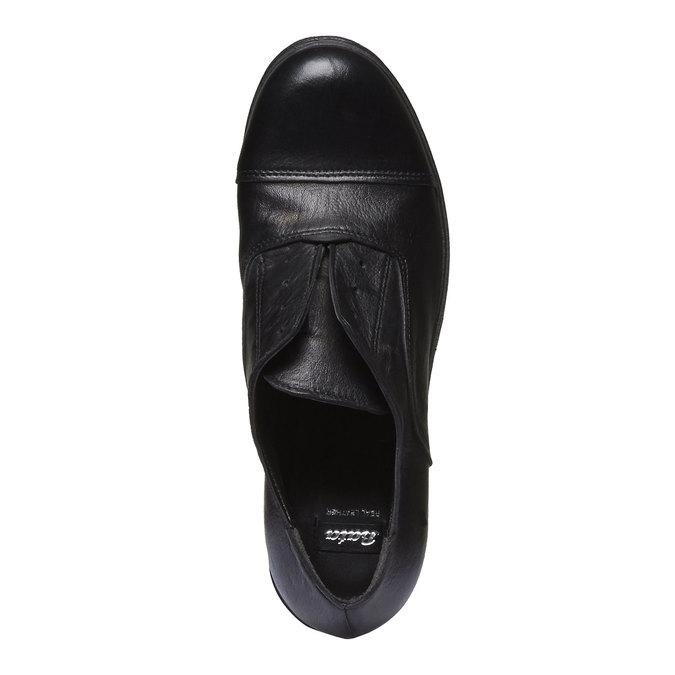 Kožené dámské polobotky bata, černá, 514-6166 - 17