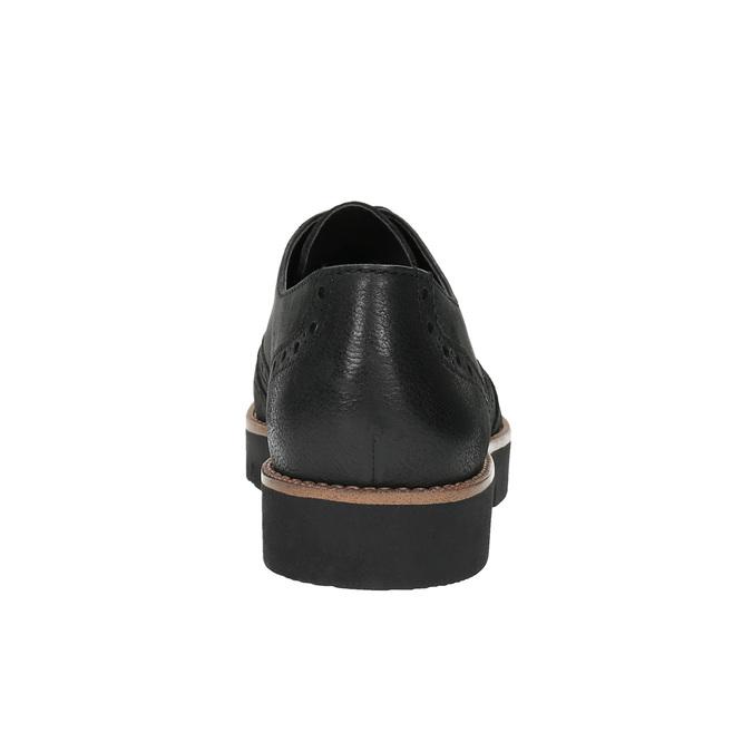 Dámské kožené polobotky bata, černá, 526-6600 - 17