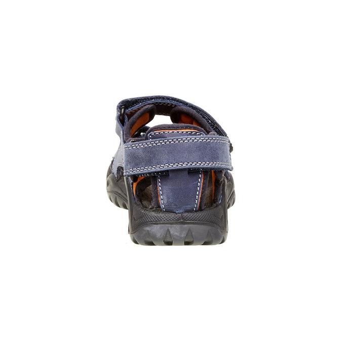 Dětské kožené sandály mini-b, modrá, 466-9121 - 17