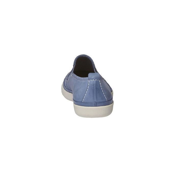 Kožené Plim Soll boty s perforací bata, modrá, 514-9197 - 17