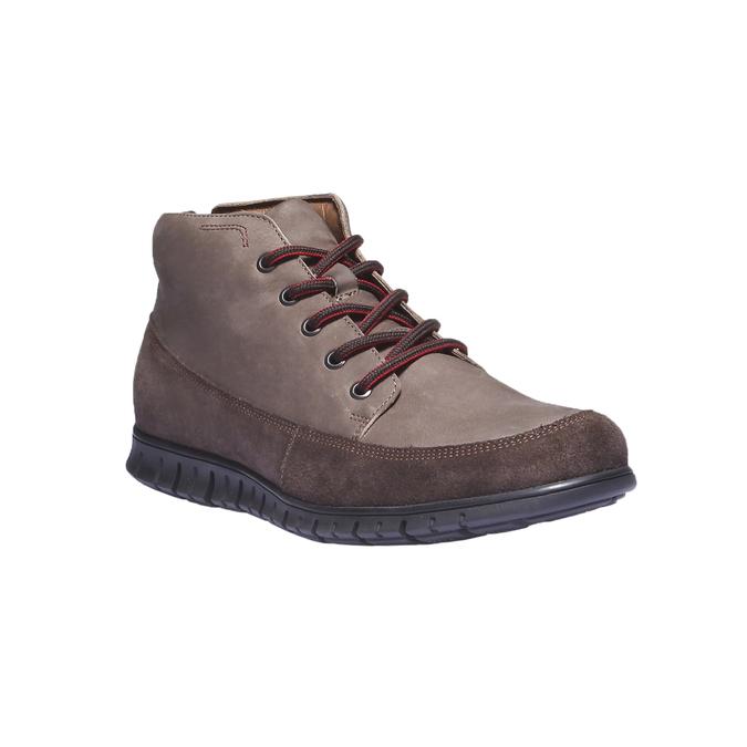 Ležérní kožené tenisky bata, hnědá, 896-4195 - 13