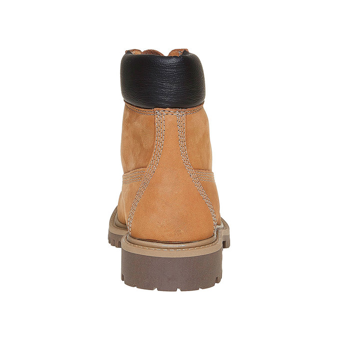 Dětská kožená obuv na výrazné podešvi weinbrenner-junior, hnědá, 396-8182 - 17