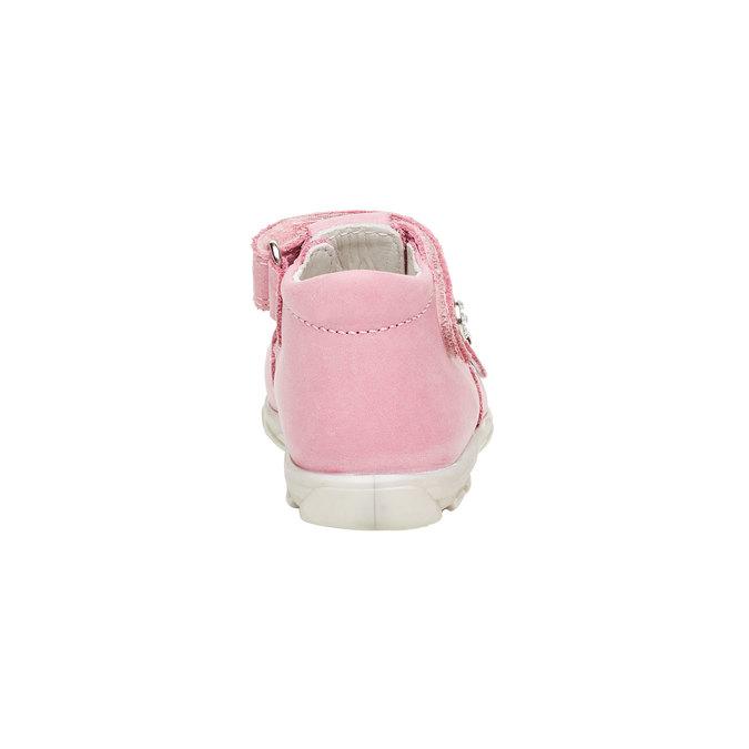 Dětské kožené sandály richter, růžová, 164-5003 - 17