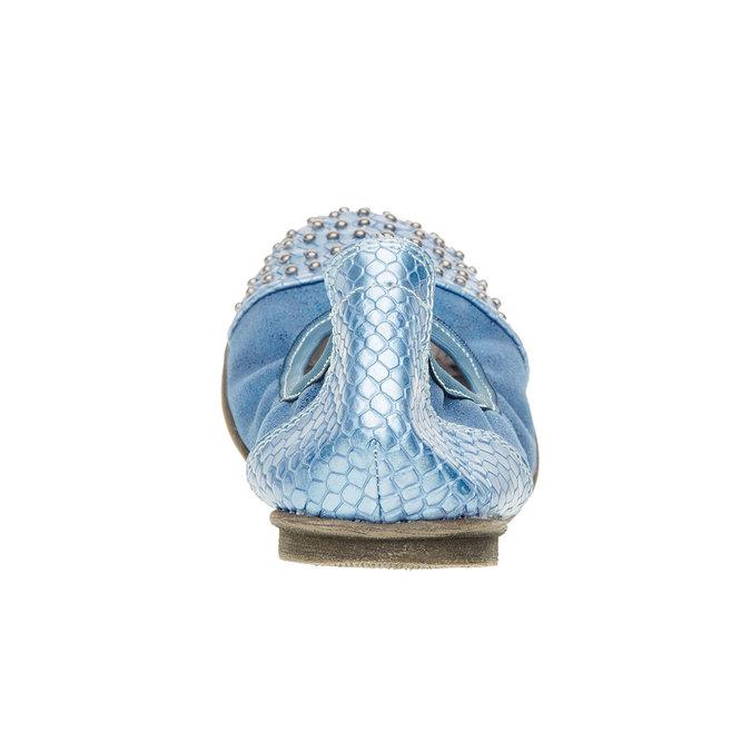 Dětské modré baleríny bull-boxer, modrá, 421-9001 - 17