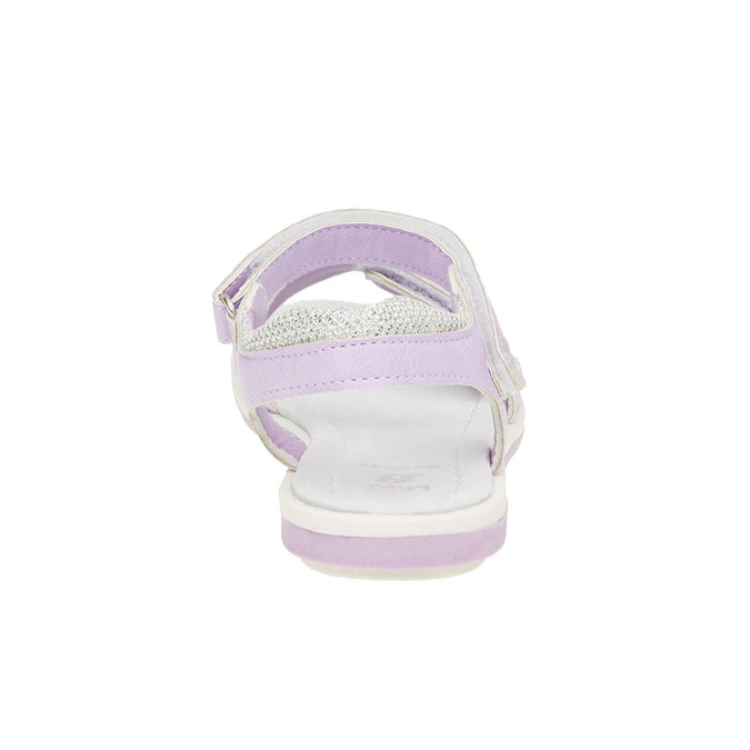 Dívčí sandály na suchý zip mini-b, fialová, 361-9180 - 17