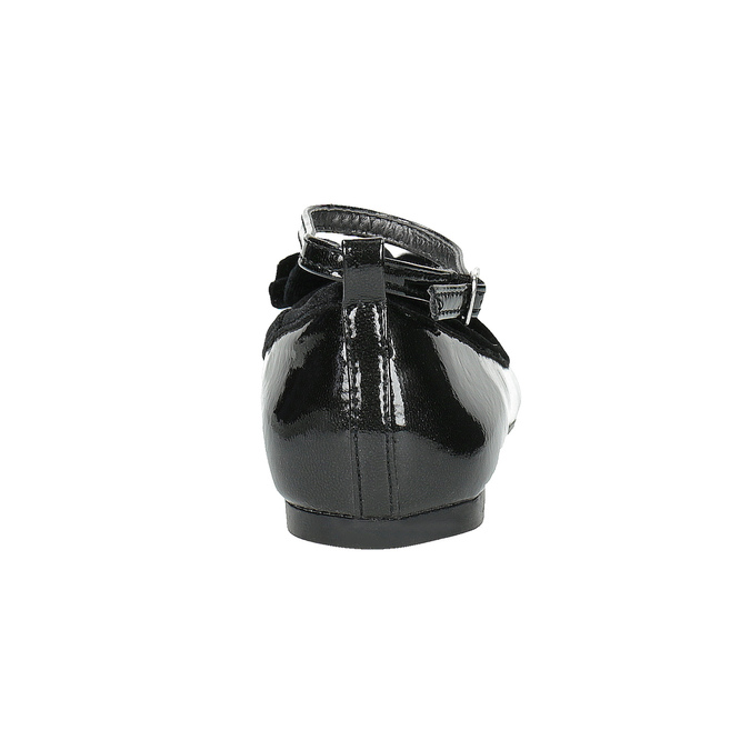 Dívčí baleríny s mašli mini-b, černá, 321-6190 - 17