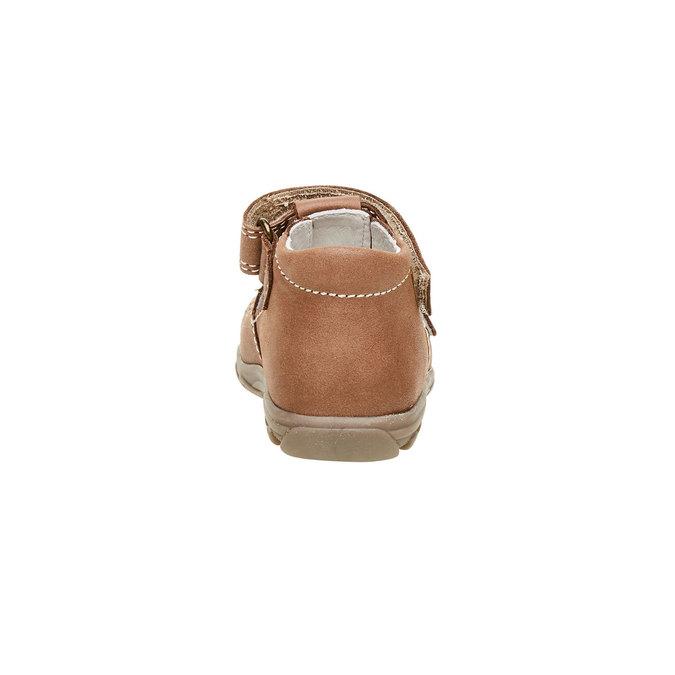 Dětské kožené sandály richter, hnědá, 164-4001 - 17