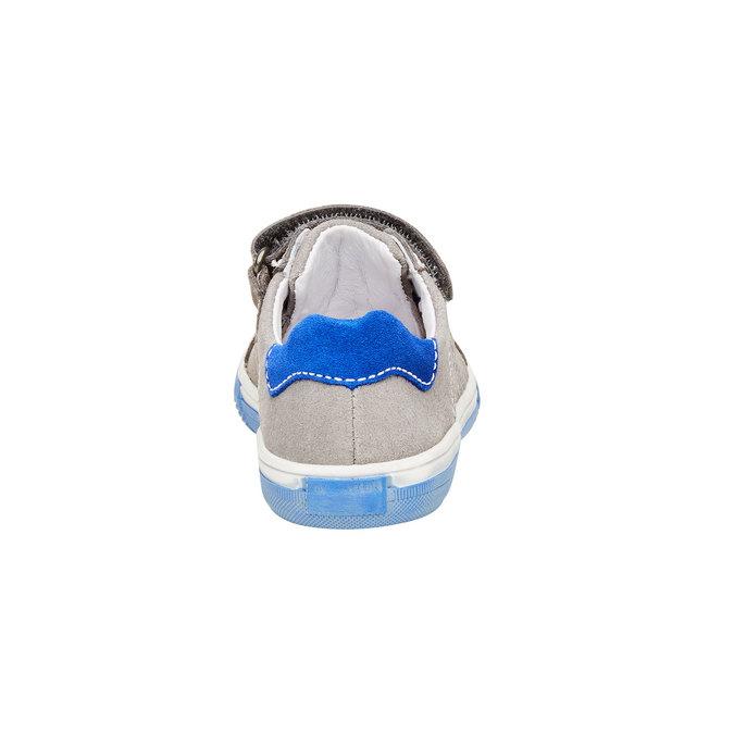 Dětské kožené tenisky richter, šedá, 313-2002 - 17