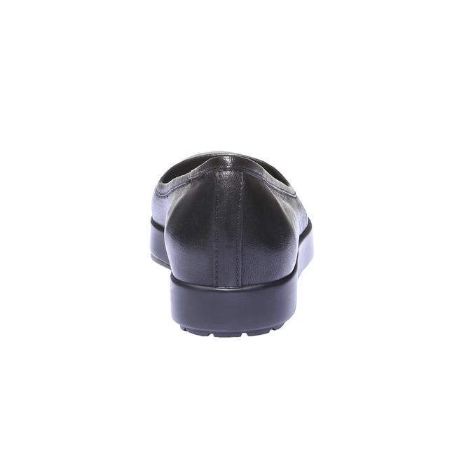 Kožené baleríny bata, černá, 524-6401 - 17